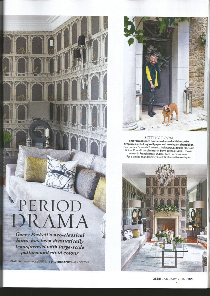 25 Beautiful Homes - Sophie Peckett Editoral Period Drama