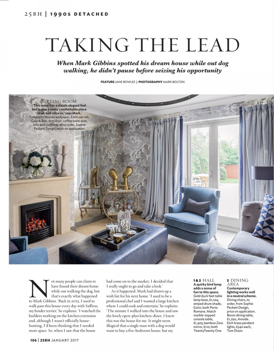 Beautiful Homes Magazine feature in 25 beautiful homes sophie peckett design | luxury